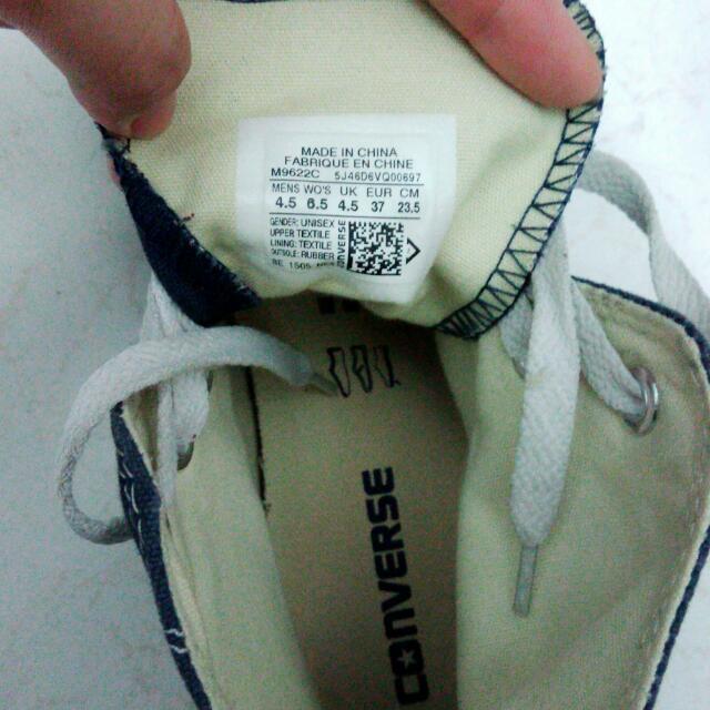Converse帆布鞋經點款高筒深藍
