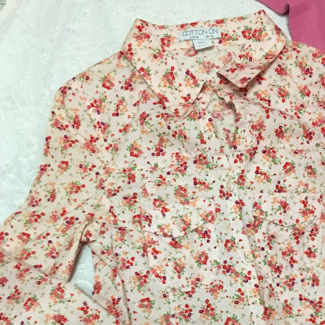 Cotton On Floral Polo