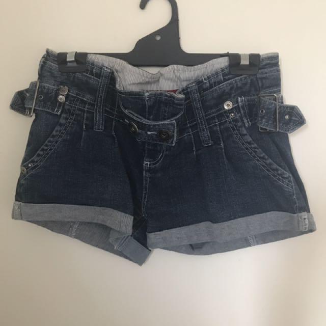 Denim Shorts - Blockout