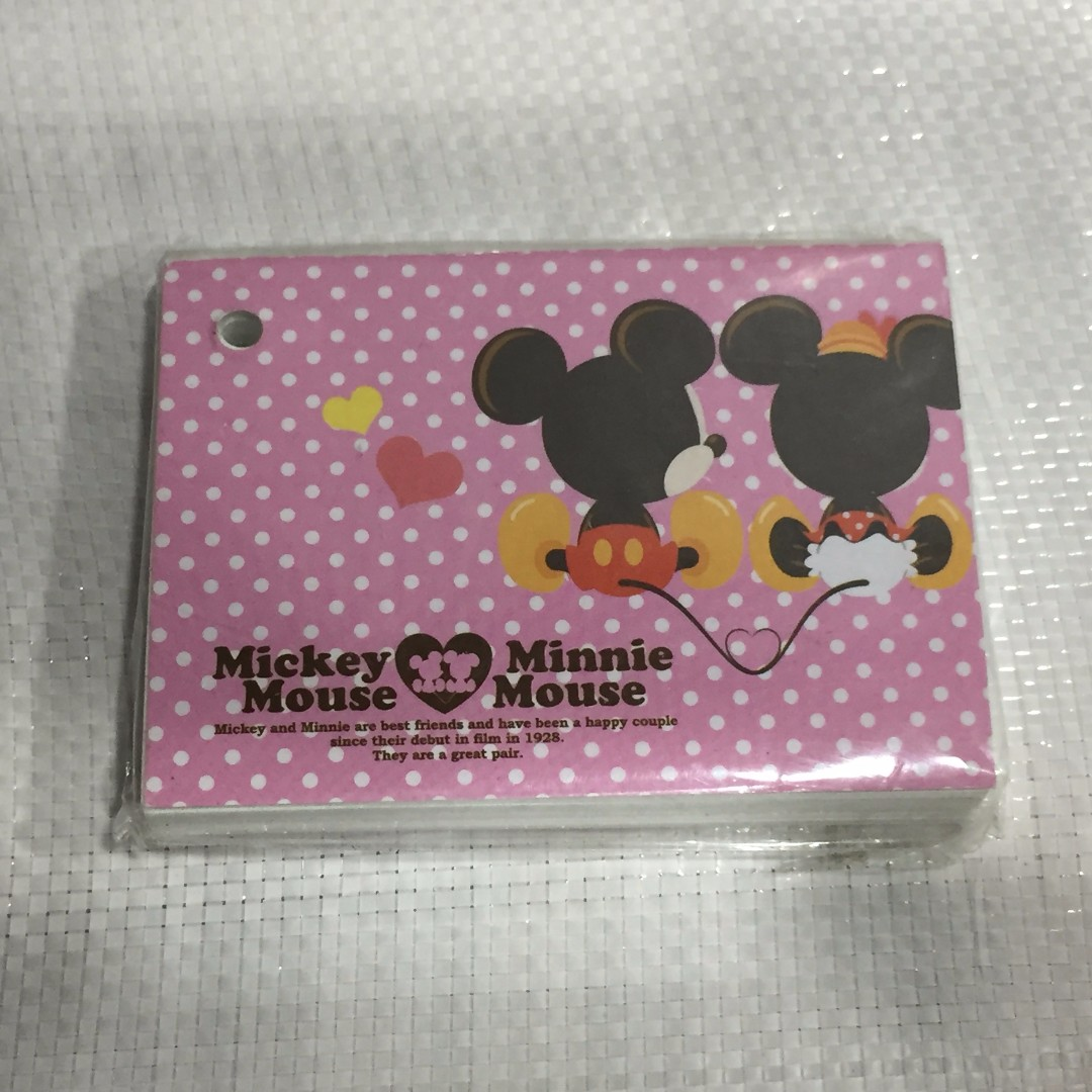 Disney 迪士尼 米奇 米妮 單字卡 Mickey Mouse Minnie memo紙 便條紙 便籤紙 辦公室小物