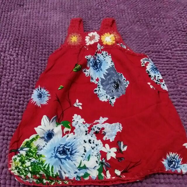 Dress Bali Bayi Warna Merah