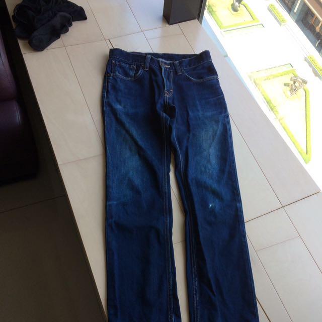 EDWIN 直筒牛仔褲