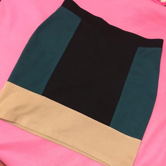 F21 Tricolor Bodycon Skirt