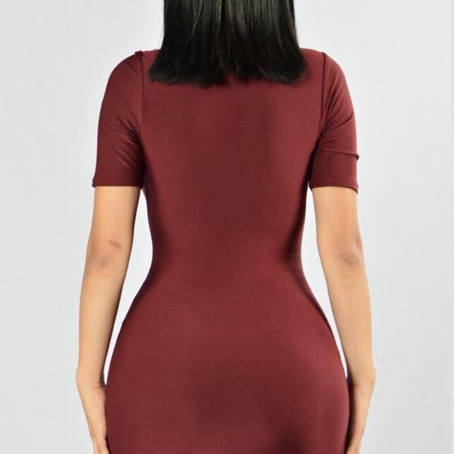 Fashion Nova Criss Cross Dress