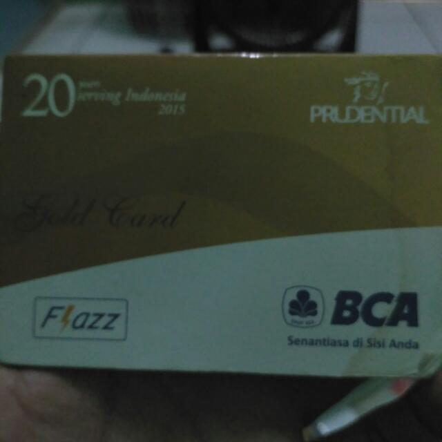👇Flazz Prudential Gold Card
