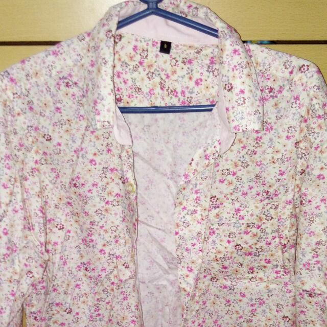 Floral Polo Long Sleeves