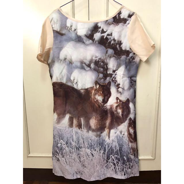 Fox Graphic Print Dress