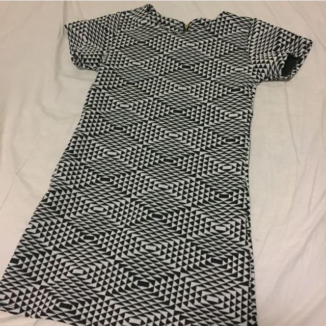 Geometric Tshirt Dress