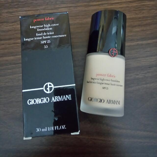 (保留) Giorgio Armani Power Fabric 完美絲絨水慕斯粉底 #3.5