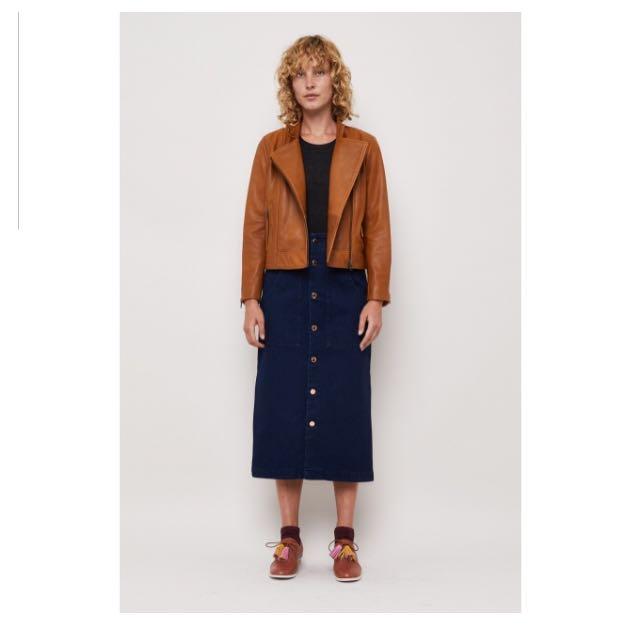 Gormans Moto Brown Leather Jacket