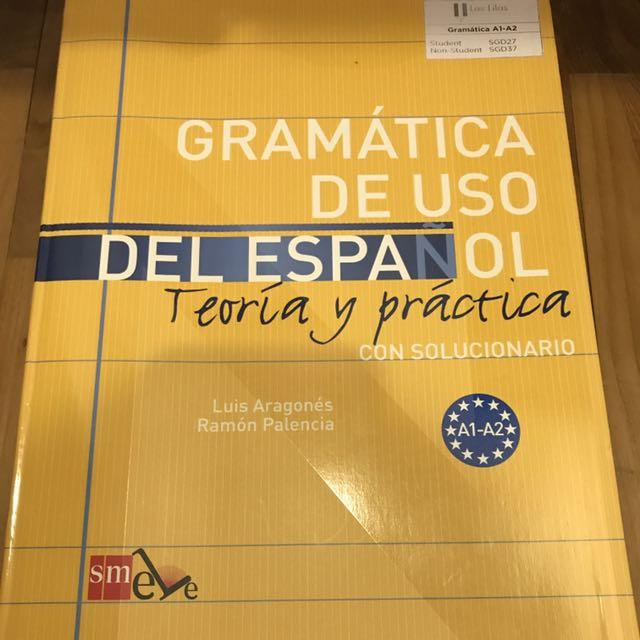 Gramática de uso del Español A1-A2 (Spanish grammar Workbook