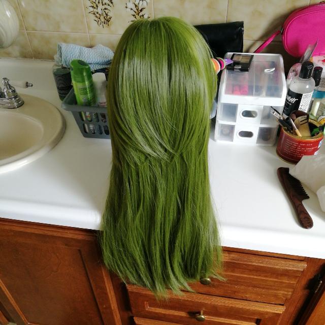 Green Long Cosplay Wig (J)