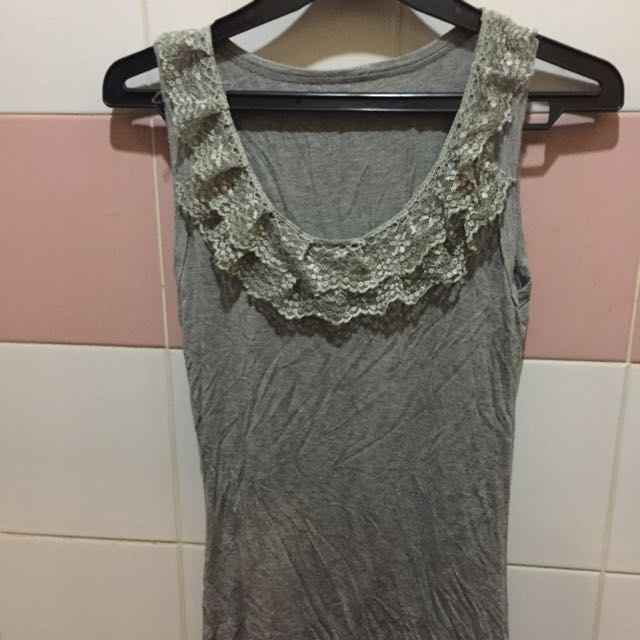 Grey Inner With Lace