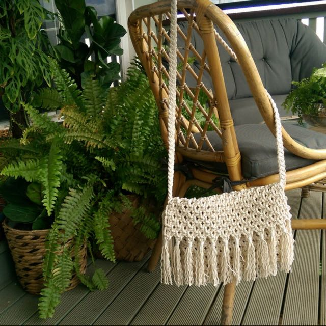 Handcrafted Boho Macrame Bag **Price Drop**
