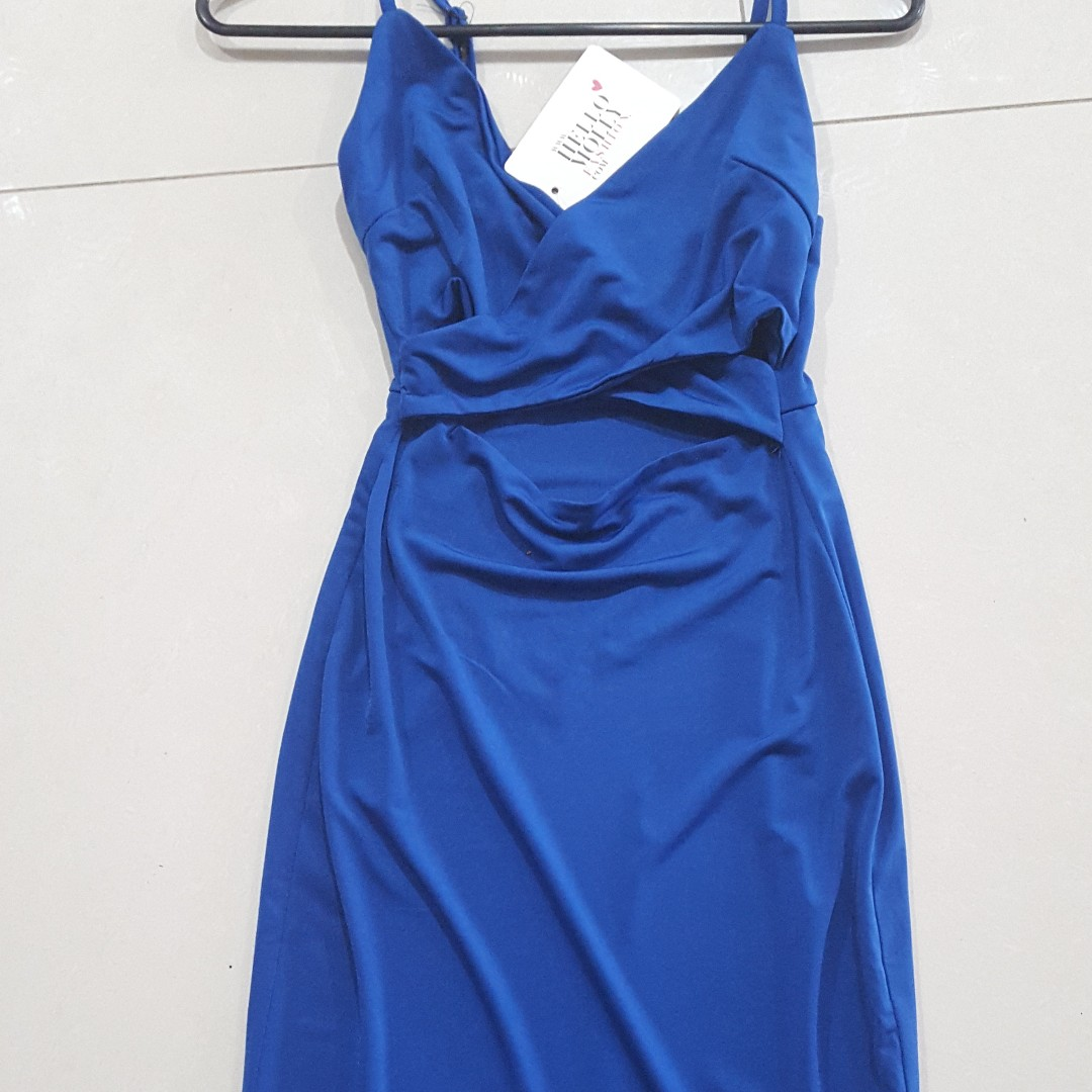 Hello Molly BNWT elexctric blue sexy dress