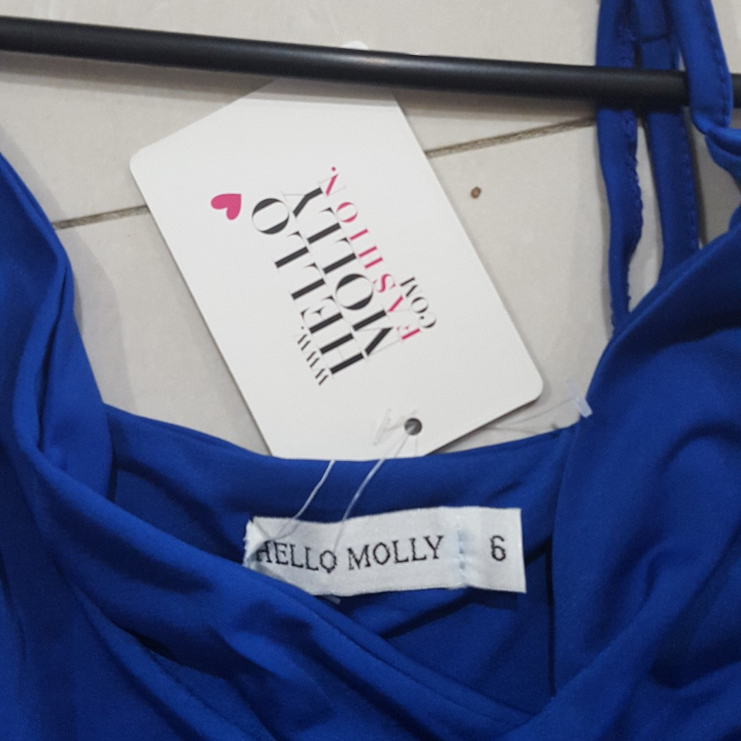 Hello Molly BNWT elexctric blue sexy dress
