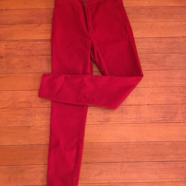 highwaist red pants
