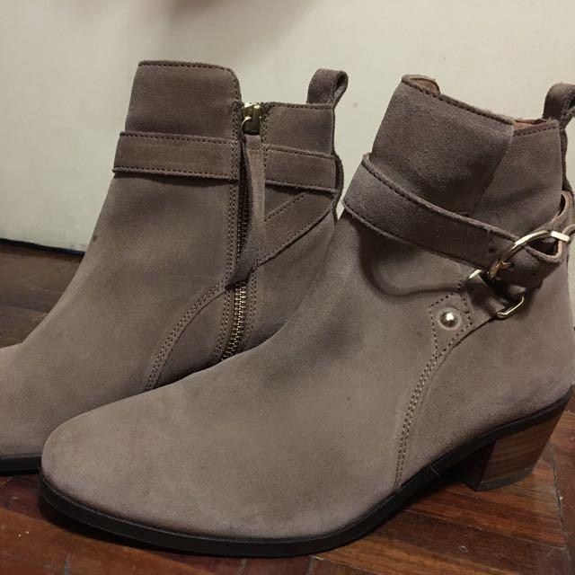 H&M Suede Ankle Boots