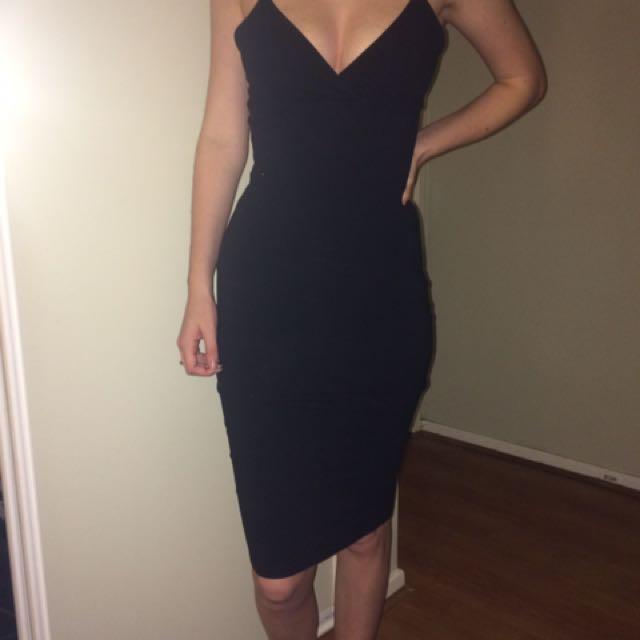 HOT black Tight Dress