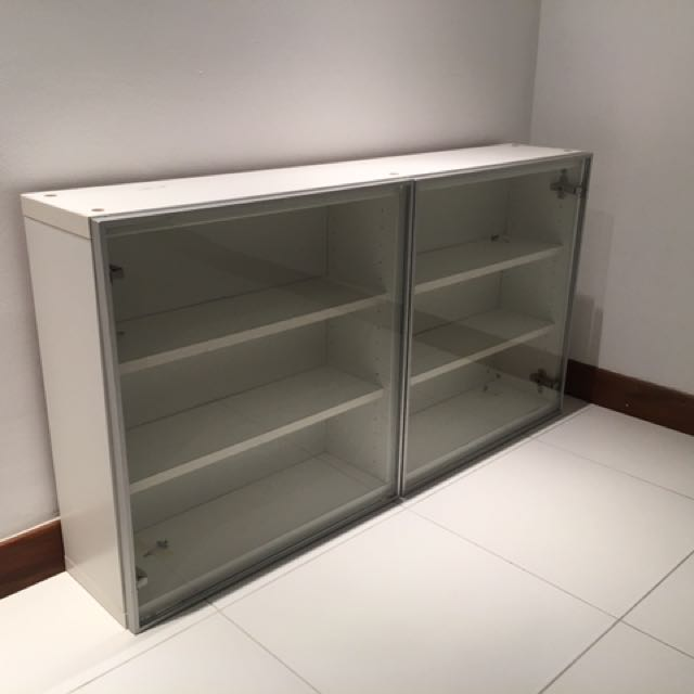 Ikea Besta Wall Cabinet With Glass Door Furniture Shelves Drawers On Carou