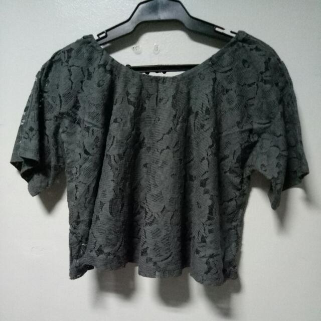 Knitted Grey Offshoulder