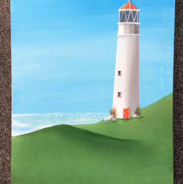 #SALE - Light House Painting (Original art)