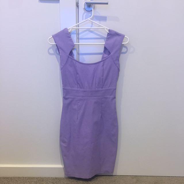 Lilac Pencil Dress