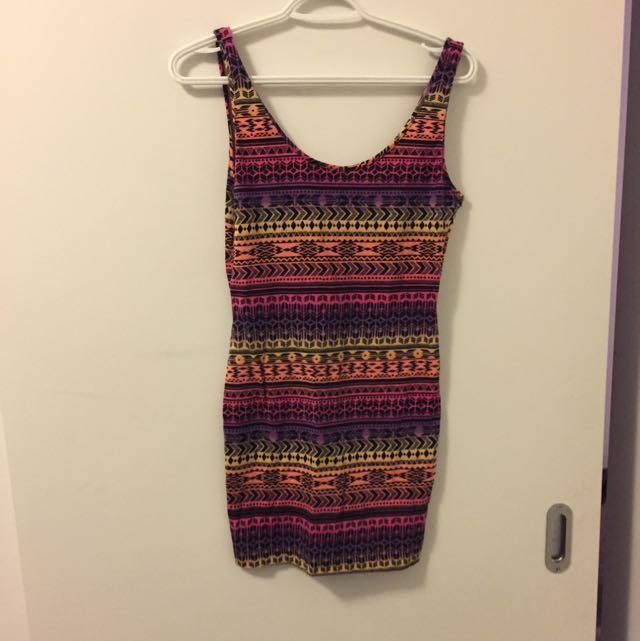 Low Back Mini Dress Small/medium