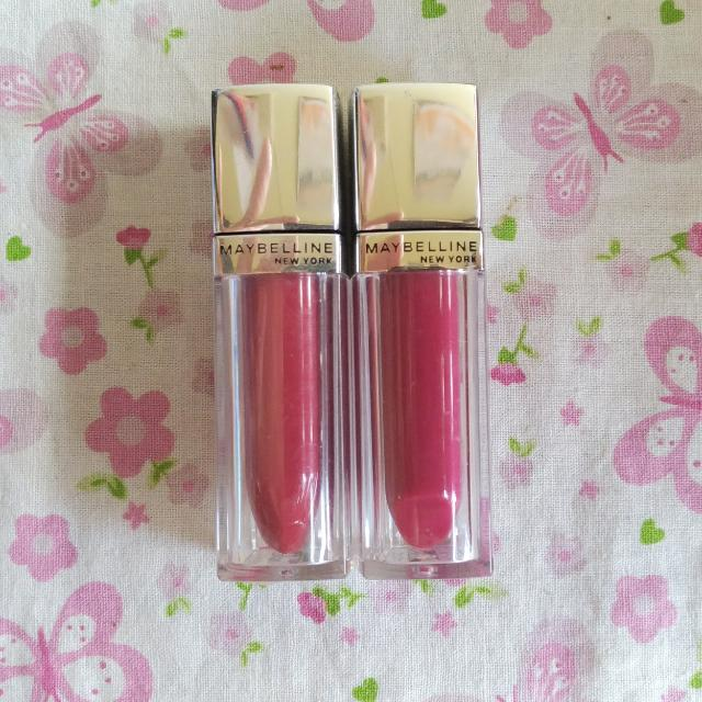 MAYBELLINE LIP POLISH HOT PINK & CHERRY RED
