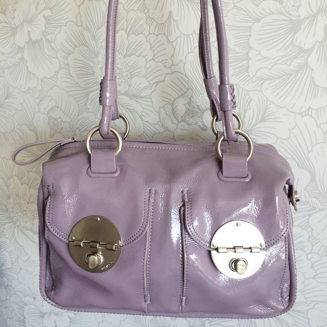 Mimco Patent Lavender Handbag