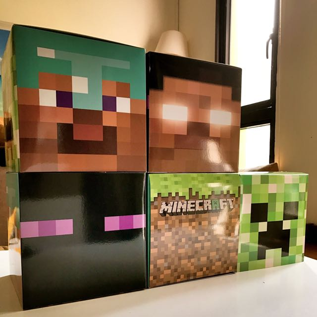 Minecraft Helmet Cum Goodie Box (New) 22 cm X 22 cm X 22 Cm