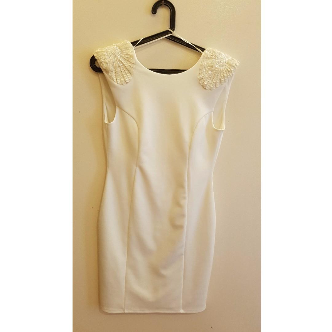 Miss Selfridge Beaded White Dress