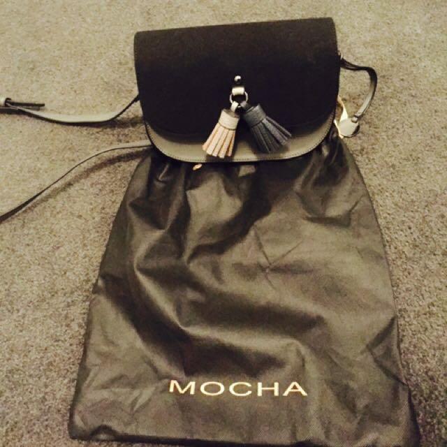 Mocha Black and Grey Crossbody Bag