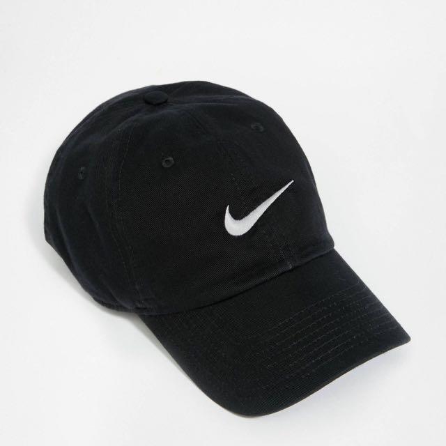 Nike老帽 黑底白字