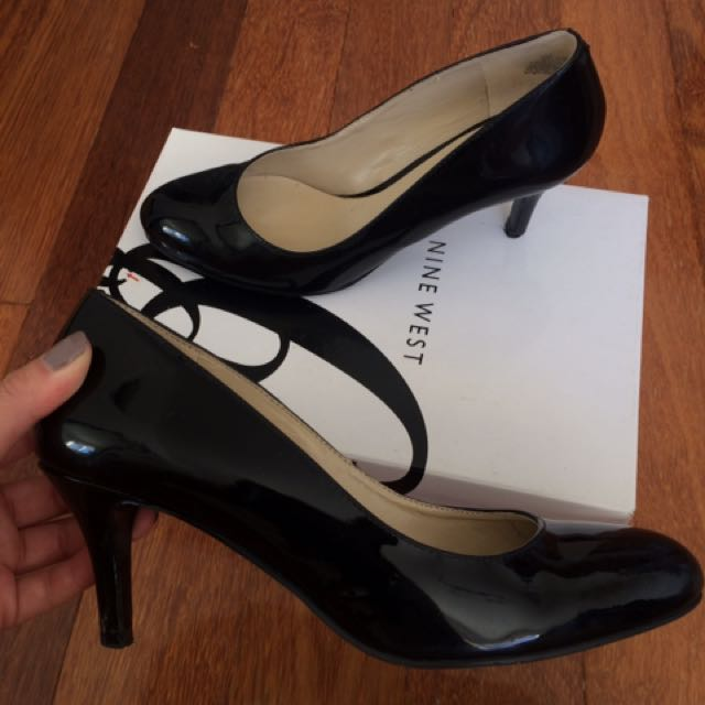 Nine West Black Patent Heels