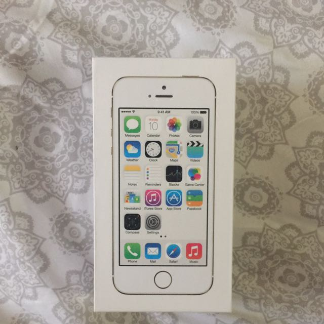 Original Gold iPhone 5s BOX ONLY