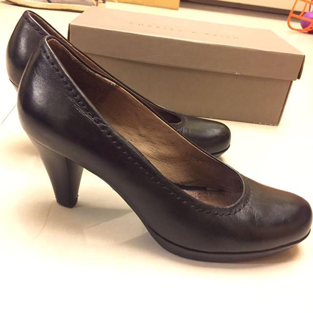 ORIN 全真皮高跟鞋 黑色 好運空姐面試鞋 OL 7.5公分