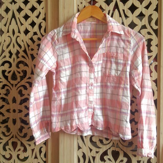 Pink Tartan Top