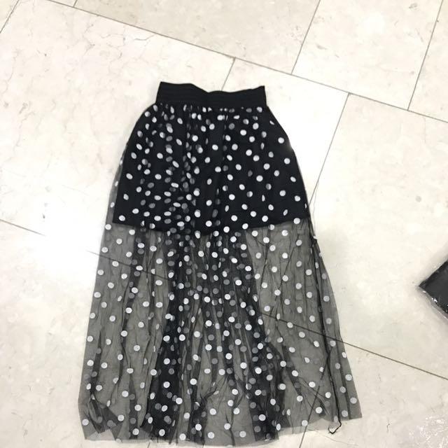 Polkadot Lace Skirt