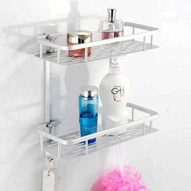 Rectangle Bathroom Shelf Stainless