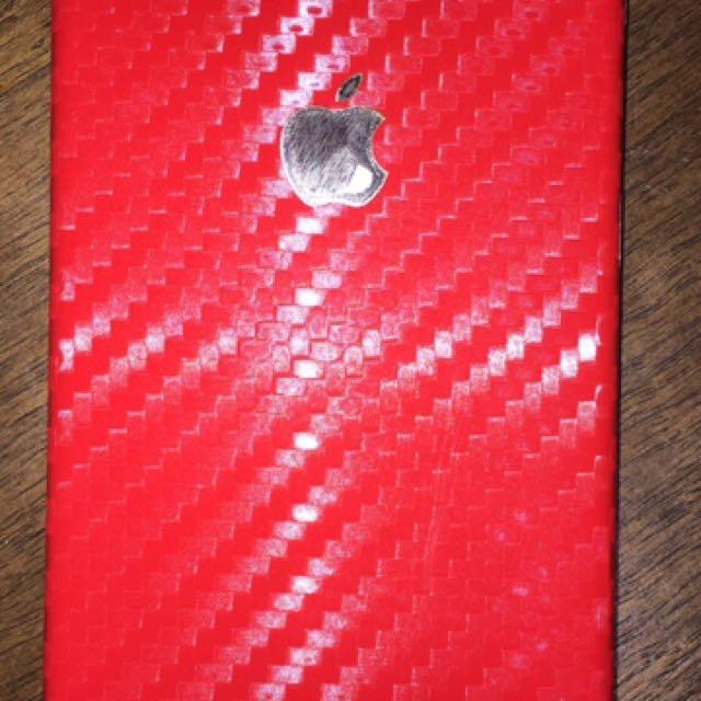 Red Carbon Fibre iPhone 6 Skin