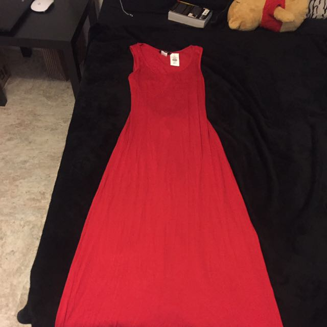 Red Long Summer Dress