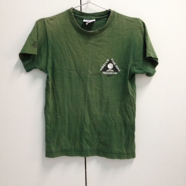 Reebok/軍綠/短袖T恤