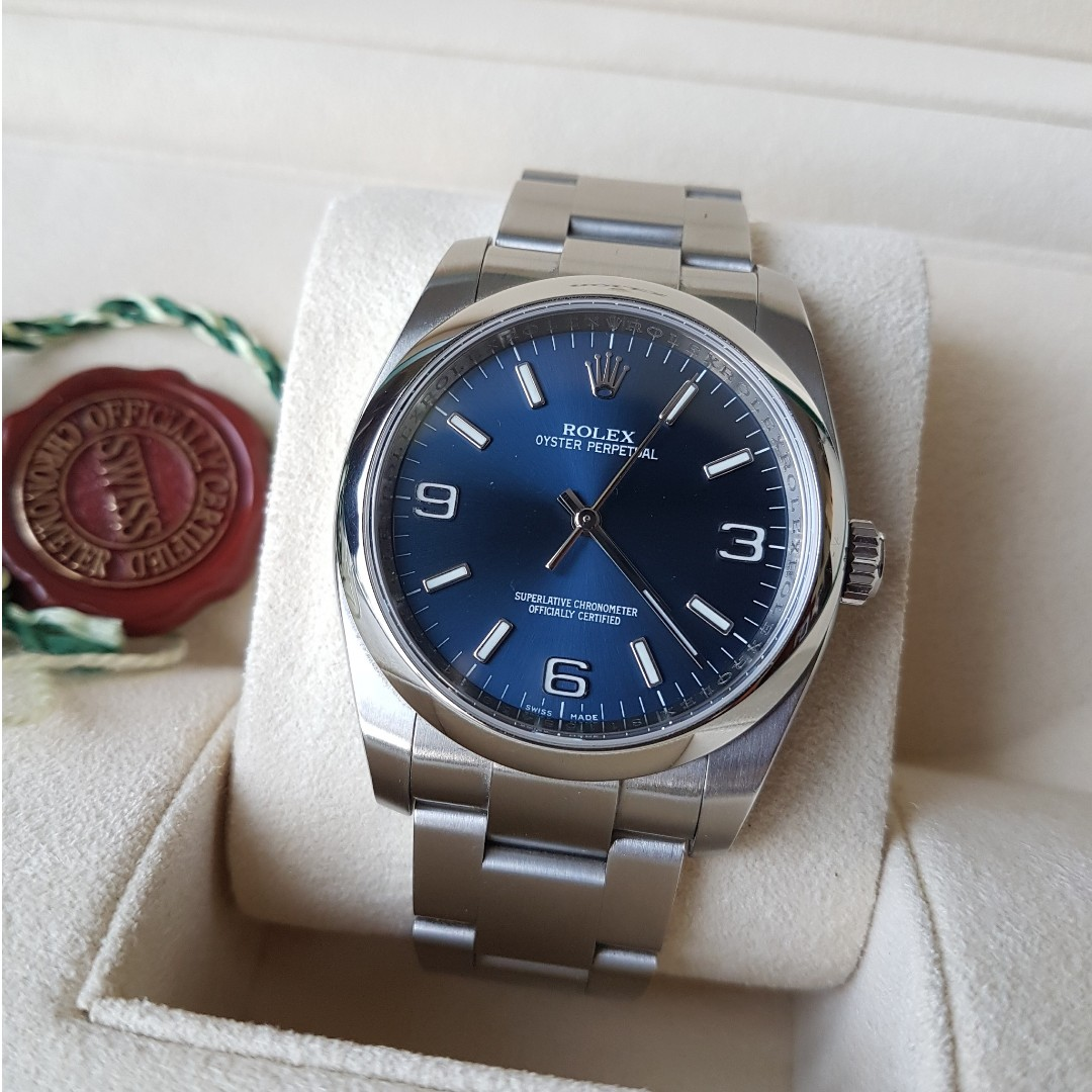Rolex Oyster Perpetual 36 Blue 36mm Luxury Watches On Carousell