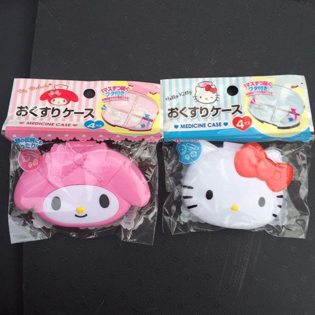 Sanrio Hello Kitty & Melody藥盒