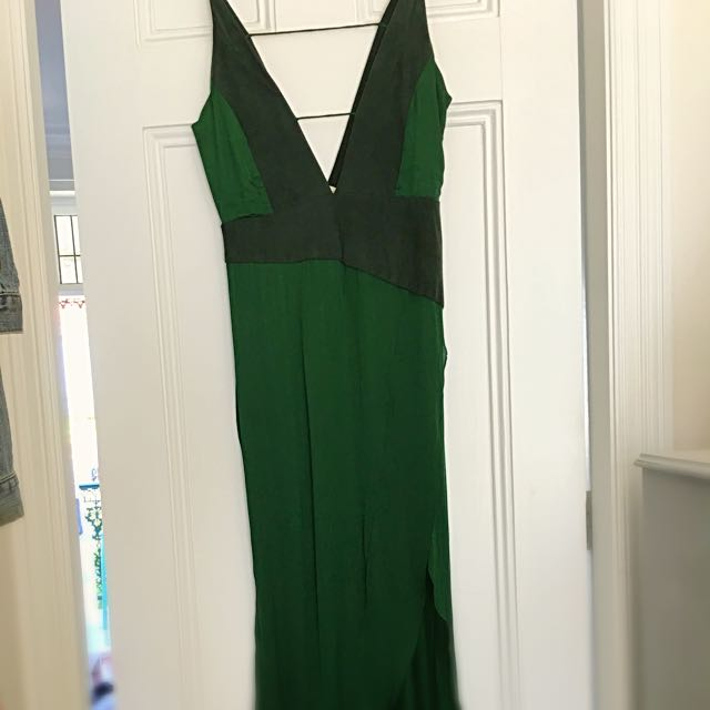 Shakuhachi Green Slip Dress
