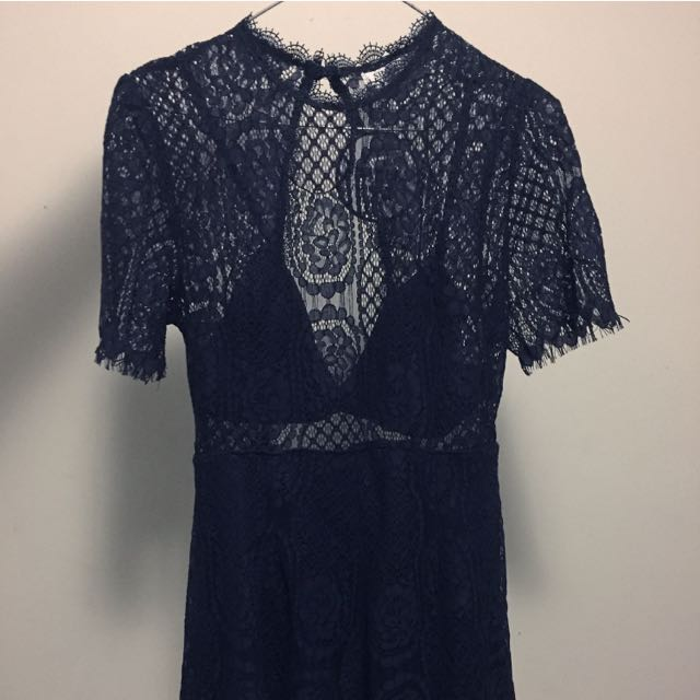 Shareen Blue Lace Playsuit