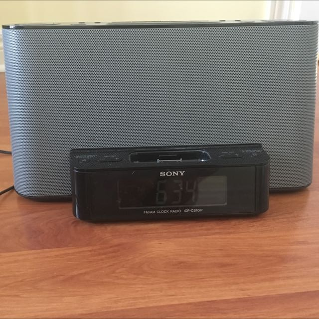 Sony Plug In Speaker / Alarm Clock / Radio