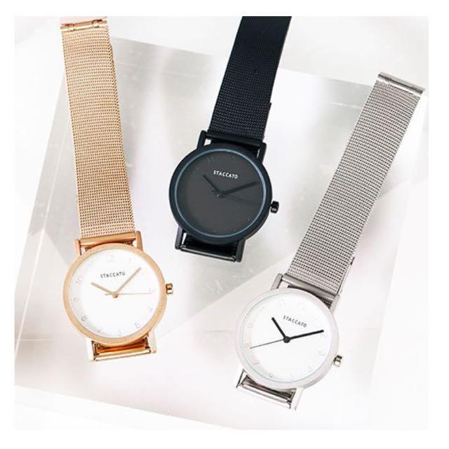 STACCATO 金屬圓錶/黑