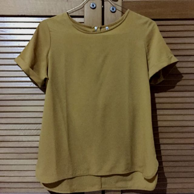 Stradivarius Shirt (Warm Yellow)